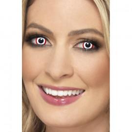 Smiffys Accessoreyes Rim Red - Kontaktní čočky Červená 2 čočky
