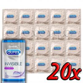 Durex Invisible Extra Lubricated 20ks
