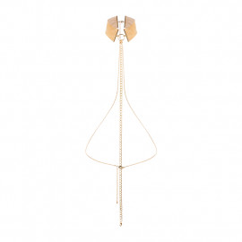 Bijoux Indiscrets Magnifique Collar Gold - Kovový ozdobný obojek Zlatá