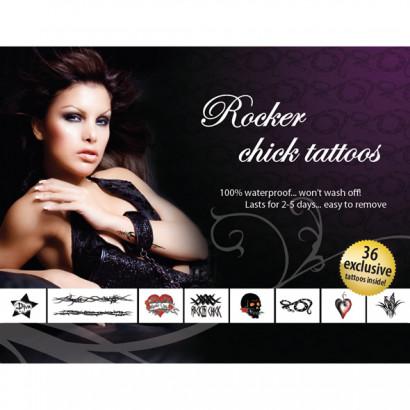 AdultBodyArt Tattoo Set Rocker Chick - sada pro dočasné tetování