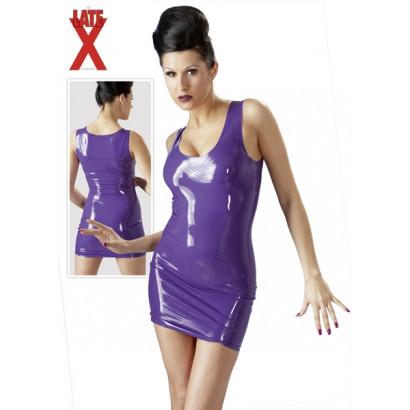 LateX Mini Dress - Latexové mini šaty Fialová