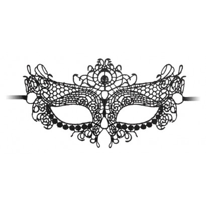Ouch! Queen Black Lace Mask Black