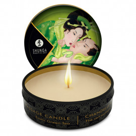 Shunga Libido Massage Candle Exotic Green Tea - Masážna sviečka 30ml