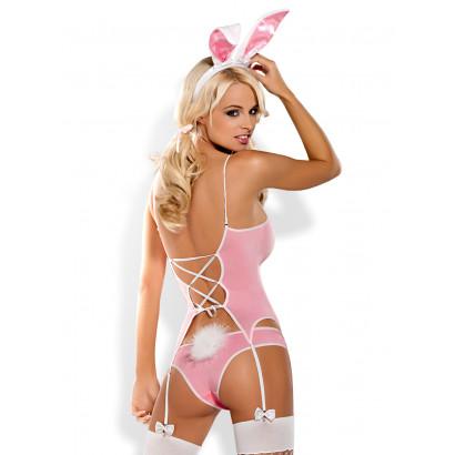 Obsessive Bunny Suit 4 pcs Costume Pink