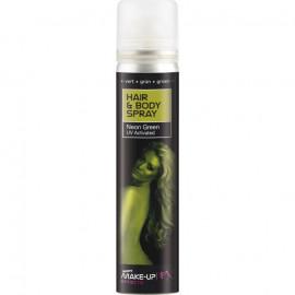 Smiffys Hair & Body Spray Neon Green UV Activated 75ml