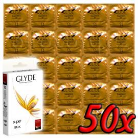 Glyde Super Max - Premium Vegan Condoms 50 pack