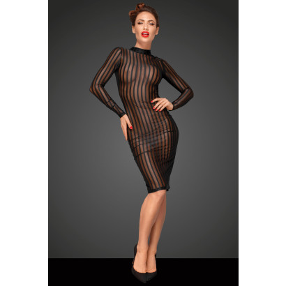 Noir Handmade F182 Classic Dress Made Out of Elastic Tulle