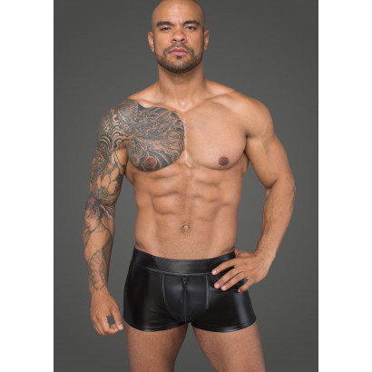 Noir Handmade H058 Men's Shorts Made of Powerwetlook and 3D Net