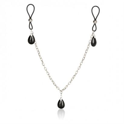 California Exotics Nonpiercing Nipple Chain Jewelry Onyx - Ornaments For Nipples